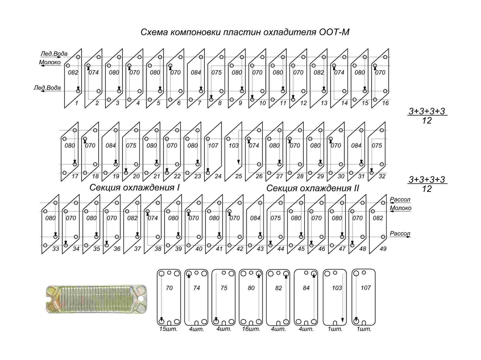 Схема компоновки секций теплообменников курсовой проект горизонтальный кожухотрубный теплообменник чертежи