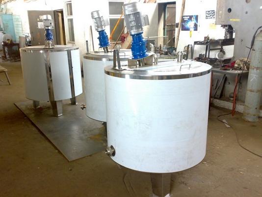 Резервуар для созревания сливок, Vраб-1000л  Я1-ОСВ-2 - фото